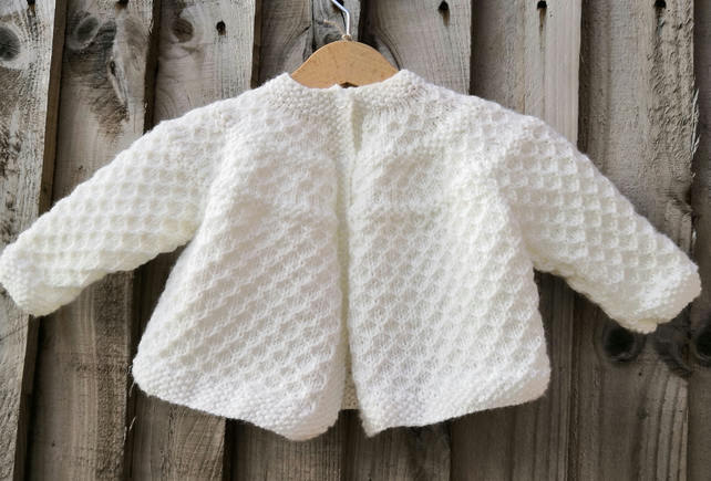557268f84 Knitted baby matinee coat