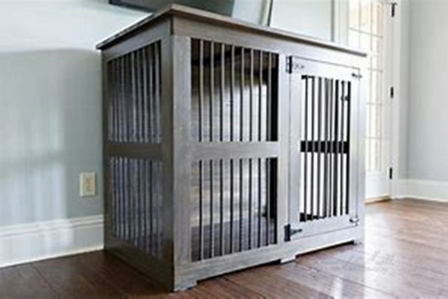 Luxury Bespoke Wooden Dog Crate Indoor Kennels Farmhouse Beds Home Single Xlarge