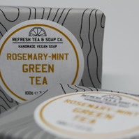 Mint Green Tea Soap with Rosemary