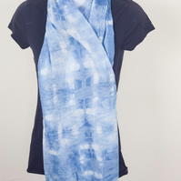 Indigo Dyed Organic Indian Cotton Scarf