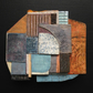 ARKADIA Abstract Art, rust, grey, turquoise, geometric, patchwork, fragments