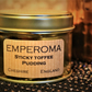 Emperoma Wood Wick Sticky Toffee Pudding Scented Candle Xmas Collection Small