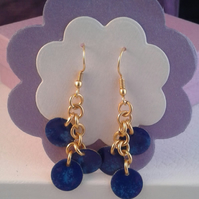EE06 gold plated drop earrings