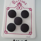 A1185 - Lot of 5 Handmade Dark Purple Fabric Covered Buttons
