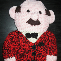 Hand Crocheted Man Shaped Belt Hanger - Ideal for Father's Day or Christmas Gift