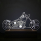 3D Harley Davidson Chopper Lamp
