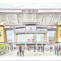 """I'm Forever Blowing Bubbles"", Upton Park - Limited Edition Art Print"