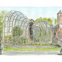 'The Gin Palace'. The Glasshouses at Bombay Sapphire Distillery- Limited Print