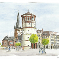 Am Burgplatz, Dusseldorf., Germany - Limited Edition Art Print