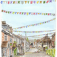 'The Bunting Fairy'.  Bridge Street, Overton