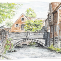 Winchester City Mill, Hampshire - Limited Edition Art Print