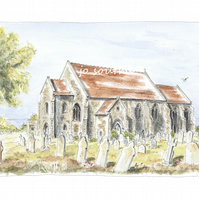 All Saints' Church, Mundesley, Norfolk - Limited Edition Art Print