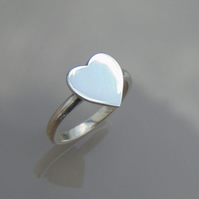 Solid Silver Heart Ring
