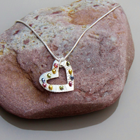 Solid Silver Heart Pendant
