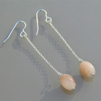 Aventurine Drop Sterling Silver Earrings