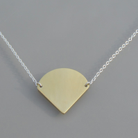 Triangular Pendant on a Silver Chain