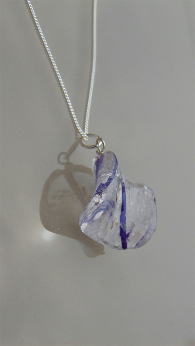 Twisted Amethyst Sterling Silver Necklace