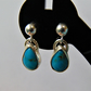 Turquoise Matrix Sterling Silver Earrings