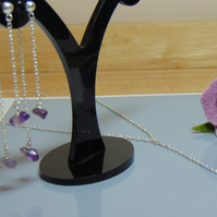 Sterling Silver Necklace & Earrings Set