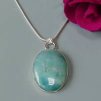 Amazonite Sterling Silver Statement Pendant