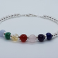 Pride - Mens gemstone bead bracelet.