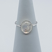 Arinna - Rainbow moonstone ring.
