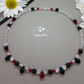 Red & black preciosa crystal choker