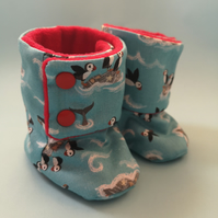 Puffin Blue Baby Cotton Boots