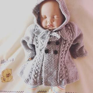 Knitting pattern for  Maeve vintage style baby coat & bonnet