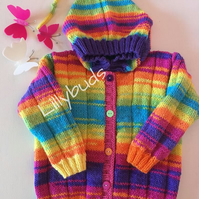 Rainbow Pixie jacket KNITTING PATTERN