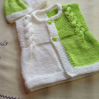 Knitting pattern for Baby, Toddler sleeveless cardigan