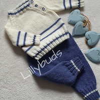 Baby Sweater and trousers set, baby boy clothes, baby jumper & trousers