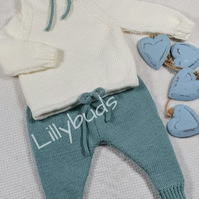 Trendy baby set, baby clothes, sweater, jam pants, trousers, boy