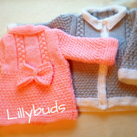 Knitting pattern Blake, baby coat, baby knitting pattern