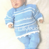 Knitting pattern for Aodh pram set. Knitting patterns. Baby knitting