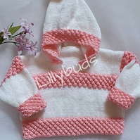 Hand knitted baby, child hoody. Baby jacket, Hoodie, Jumper, Sweater