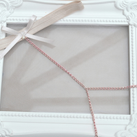 Boho Chain Bridal Garter 'Louisa'