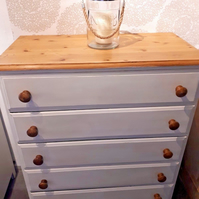 Ducal Victoria Solid pine tall boy chest of drawers