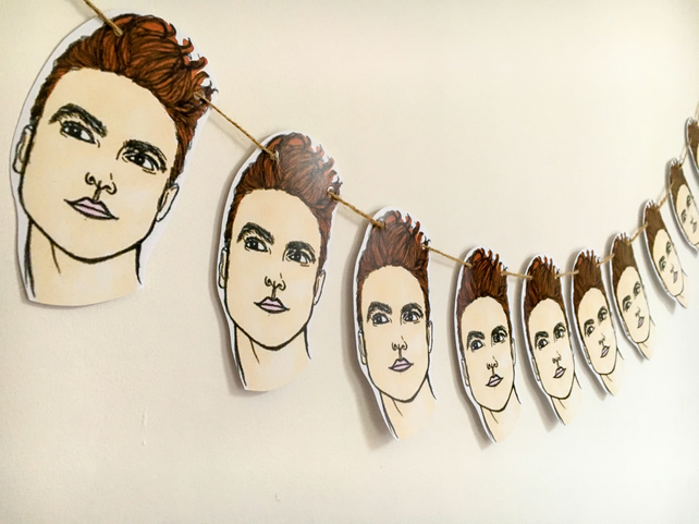 Morrissey print, The Smiths bunting, paper bunting sets