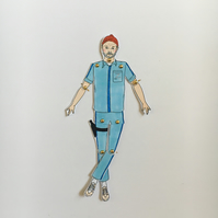 Bill Murray paper doll, Wes Anderson prints, paper gifts
