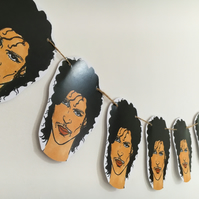 Prince bunting, prince garland, cool decor, perfect gift for music fans