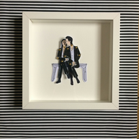 PJ Harvey and Nick Cave dolls, Henry Lee framed doll set, paper dolls