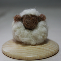 Mish Mash Minis - Ewe Hoo! (needle felted sheep sculpture)
