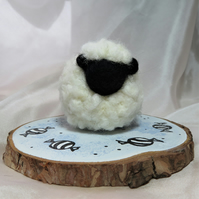 Baa Humbug! Needle felted (un)festive christmas sheep decoration
