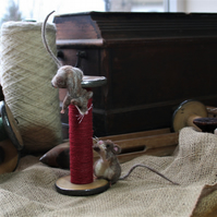 Mill Mice - needle felted mouse sculpture
