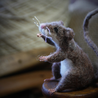 Little Mill Mouse - needle felted mouse sculpture