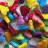 Heartfelt Confetti handmade felt hearts - wedding favours, gifts, table decor