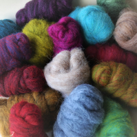"""Corriedale-Lucky Dip"" Wool Pack - 150g carded wool slivers for felting"