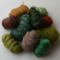 """EARTH"" Wool Pack - 250g of merino and corriedale wool in earthy tones"