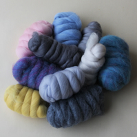 """AIR"" Wool Pack - 250g of merino and corriedale wool in light airy tones"